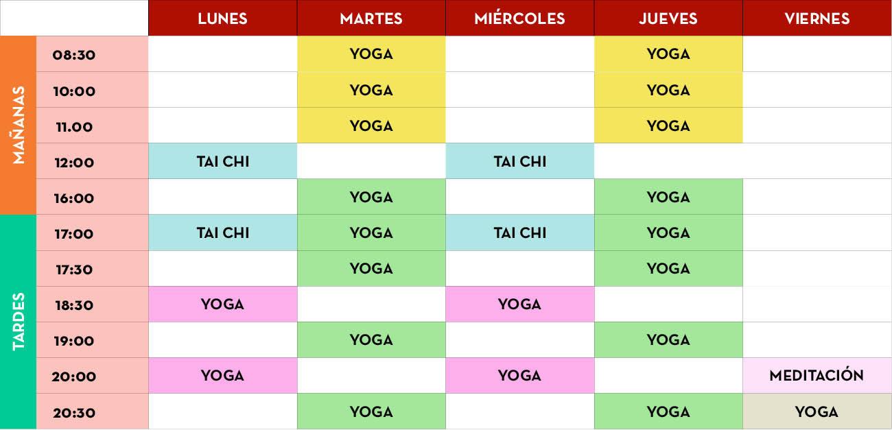 clases de yoga en valladolid, yoga, clases, horario